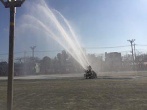 1月7日 国分寺市の消防団の出初式(国分寺市立第1中学校)